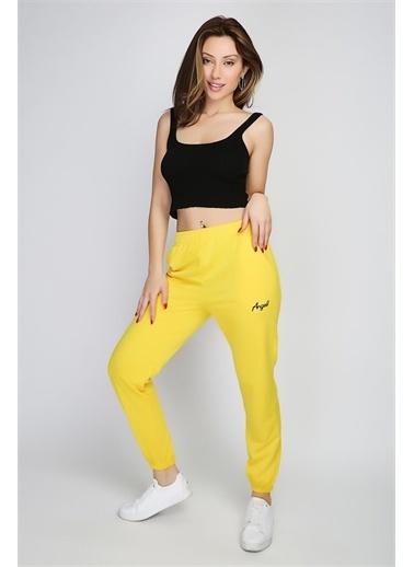 Rodi Jeans Kadın Angel Nakışlı Paça Lastikli Alt Eşofman Ds21Yb091018 Sarı